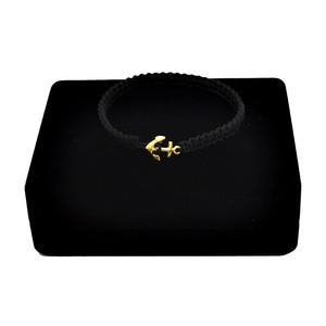 【無料ギフト包装/送料無料/限定】K18 Gold Anchor Bracelet / Anklet Black×Black【品番 17S2010】