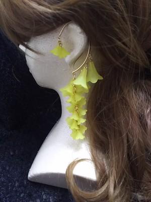 枝垂れイヤーフック 黄色