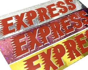 "Topboy ""EXPRESS ""Handprinted KiraKira Sticker"""