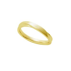 [約1ヶ月でお届け]ユニセックス 3mm幅 K18 結婚指輪 OCTAVE∞Chaleur~ぬくもり~「つたえる想いと こたえる想い」