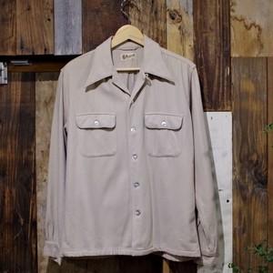 1940s PURITAN Box Style Open Collar Shirt / ヴィンテージ プリタン ループカラー ウールシャツ