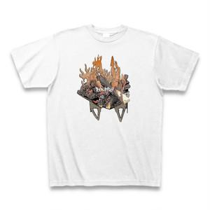 送料無料 ソロキャンプは焚き火でしょ(Solo Camp)オリジナル メンズTシャツ