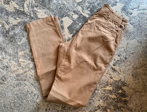 SASSAFRAS: sprayer pants linencotton beige