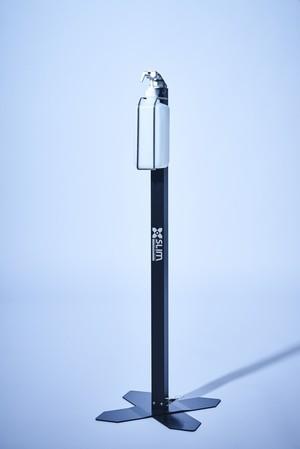 足踏み式除菌スタンド Slim2(ポンプ容器タイプ)BLACK仕様
