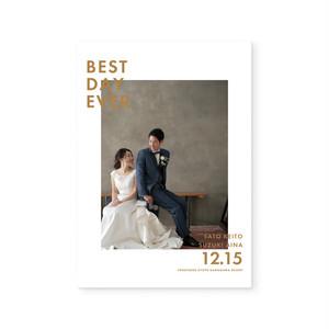 6Pプロフィールブック[巻き三つ折りタイプ]| 結婚式・ウェディングペーパーアイテム・海外風
