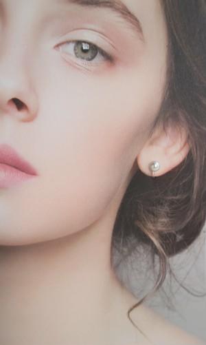 あこや真珠のピアスのようなイヤリング・7~7.5ミリ(ノンホールピアス)