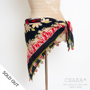 Oya Scarf/Red×Beige