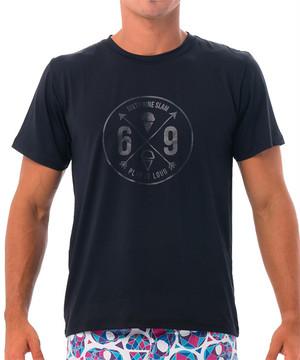 【20SS 新作】【69SLAM】水陸両用 ロックスラム メンズ ラッシュ 69 CROSS Tシャツ UVカット / MTZOSS-BK