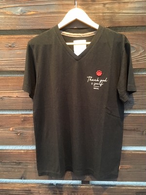 ROIAL  ROO2MDT02 V-Neck Tee  Black Sサイズ