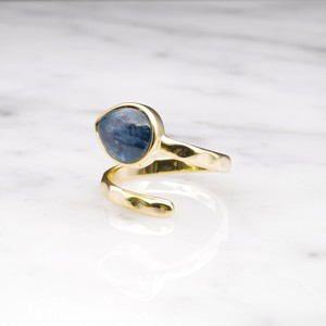 SINGLE STONE OPEN RING GOLD 017