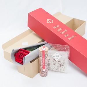 [母の日]Red One Rose(ローズティー&バスソルト付き)