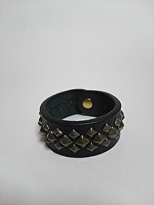 スタッズブレスレット-S-black