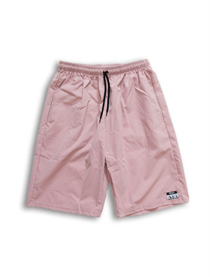 LOGO STICKER HALF PANTS lightpink