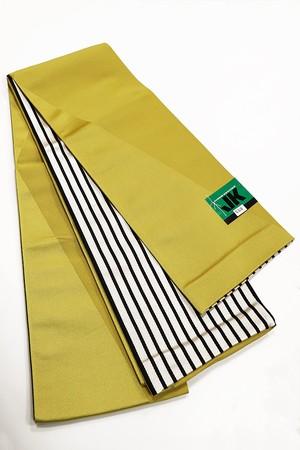 JUNKO KOSHINOリバーボーダー小袋帯 レディース ポリエステル100% イエロー 半巾帯