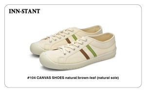 #104 CANVAS SHOES natural/brown-leaf (natural sole) INN-STANT インスタント 【消費税込・送料無料】