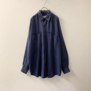 GOOUCH リネンシャツ ブルー size M メンズ 古着