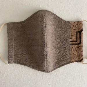 マスク111 鼠色大14cm シピボ族の泥染め