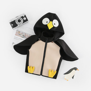【ベビー服】ペンギンフード付きカートゥーンファスナーアウター23586658