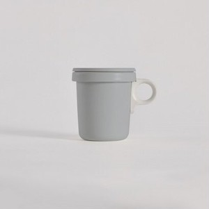 ovject (オブジェクト) ほうろうフックマグ 360ml グレー/ホワイト(琺瑯)