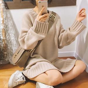 【即納♡】Vネックニットワンピース  7491