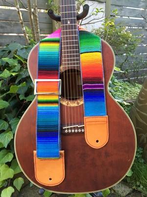 mexican sarape guitar strap