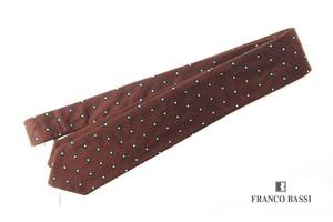 フランコバッシ|Franco Bassi|シルクリバーシブルネクタイ|ブラウン
