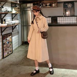 【ワンピース】スウィートリボン秋冬Aラインデートワンピース