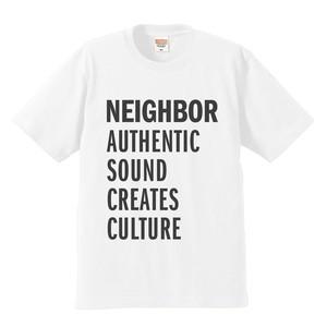 NEIGHBORオリジナルTシャツ(ホワイト × ブラック)