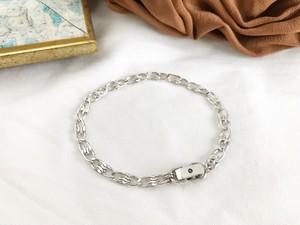 Cracked egg bracelet ー silver ー