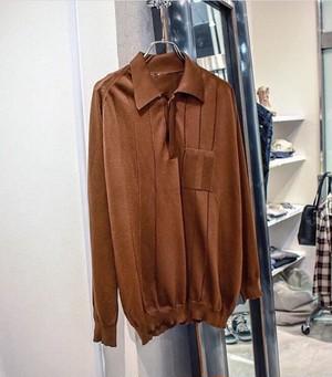 70's ニットポロシャツ