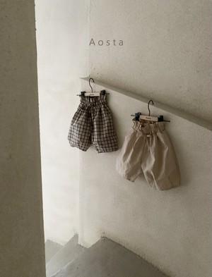 【予約販売】bask pants〈Aosta〉