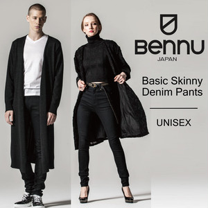 【BENNU】Basic Skinny Denim Pants/メンズ、レディース