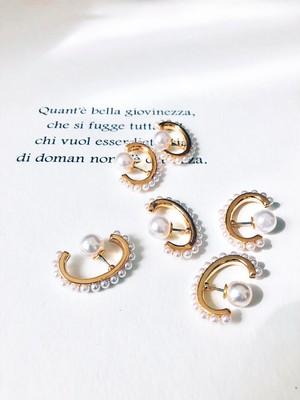 Pearl ear cuff like pierce (パール イヤーカフライクピアス)