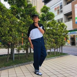 Bamboo Dolman Sleeve Switch Shirts MixB(Black×White×Navy)