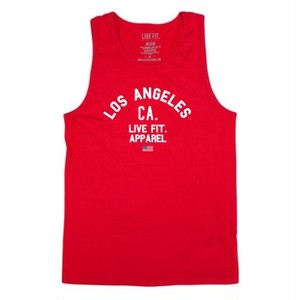 LIVE FIT Warm Up Tank- Red