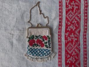 AMERICA ~1960's Petit Beads Purse