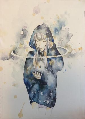 """ポストカード """"宇宙パーカ"""""""