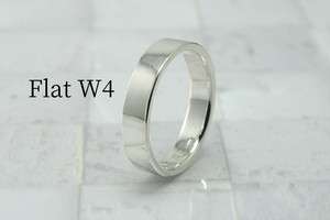 Ring-Flat W4 - 平打ちリング 幅4mm