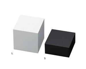 木製ブロックLサイズ マット塗装ホワイト・ブラック AR-1643-L