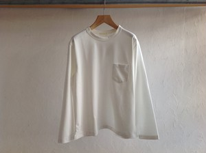 "niuhans""Heavyweight Cotton Pocket L/S Tee White"""