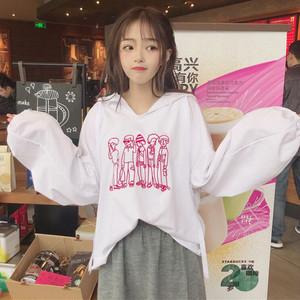 【トップス】春新作ルーズ韓国風カートゥーンフード付きパーカー