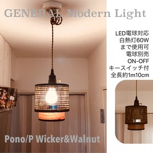 天井照明 ペンダントライト GENERAL Pono/PWW 真鍮ツマミスイッチ付