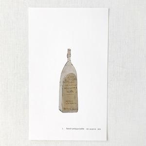 古いボトル /  ブリキの絵のポスター
