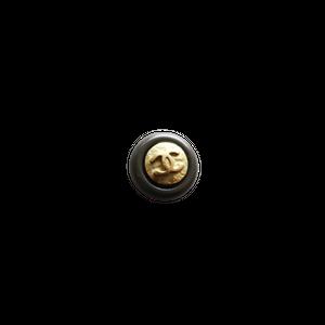 【VINTAGE CHANEL BUTTON】ブラウンフレーム ゴールドココマークボタン