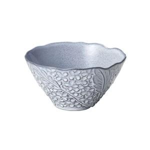 「リアン Lien」サラダ&フルーツボウル 皿 直径約18×深さ17cm L グレー 美濃焼 267822