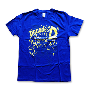 "Dancebeach 10th Anniversary Decade of ""D"" T-shirts 【ロイヤルブルー】"