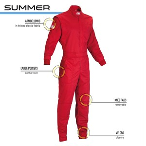 NB1579061 SUMMER MECHANICS OVERALL RED