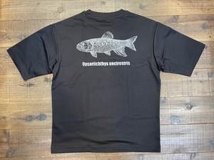 オーバーサイズケタバスTシャツ ブラック×ホワイト バックプリント(5分袖)