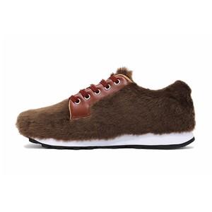 受付終了 限定40足 モコモコの靴「ブラウン」