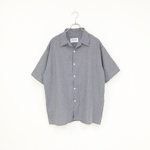 GINGHAM SHIRT(NAVY)